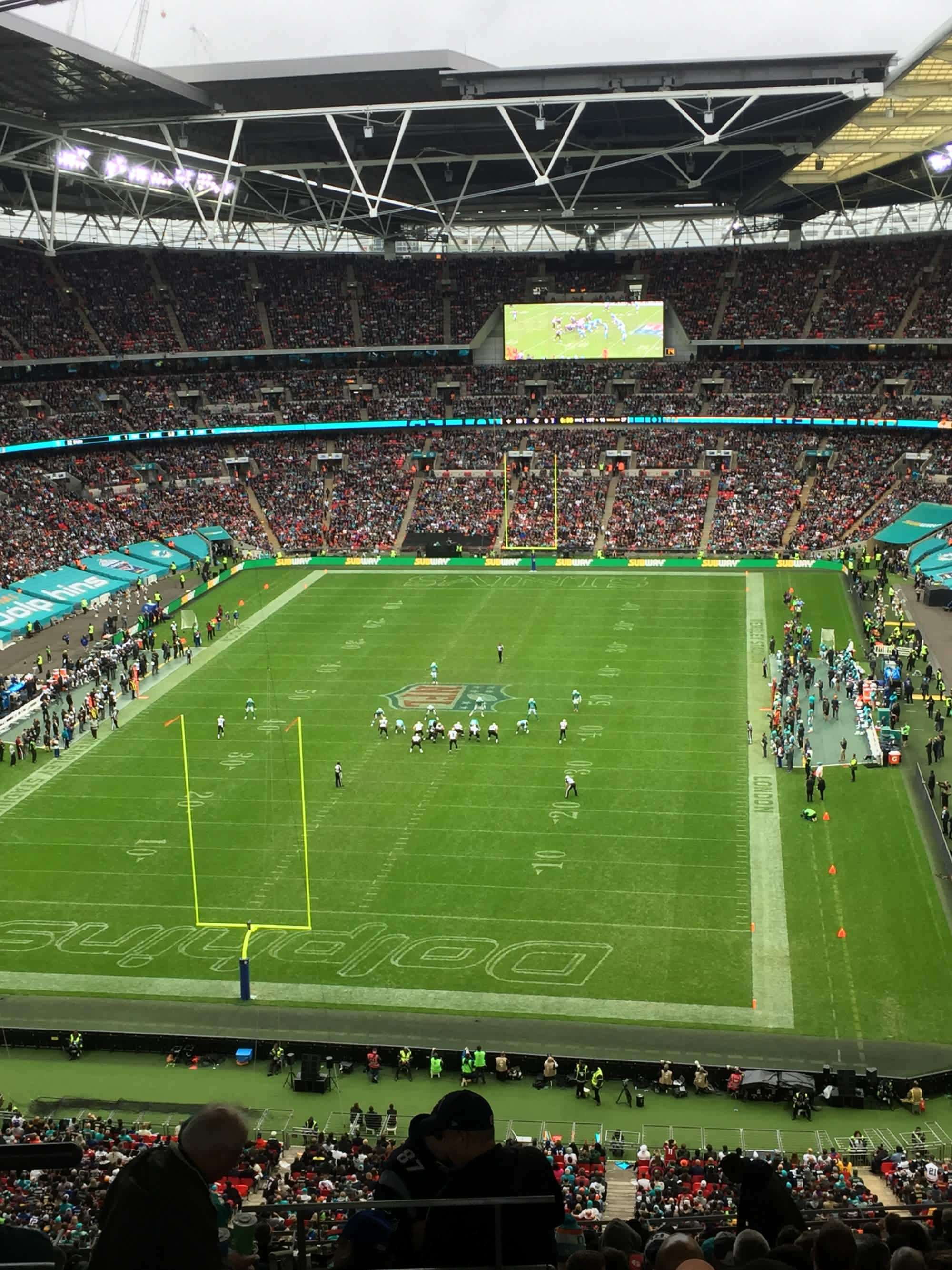View from Seat Block 512 at Wembley Stadium
