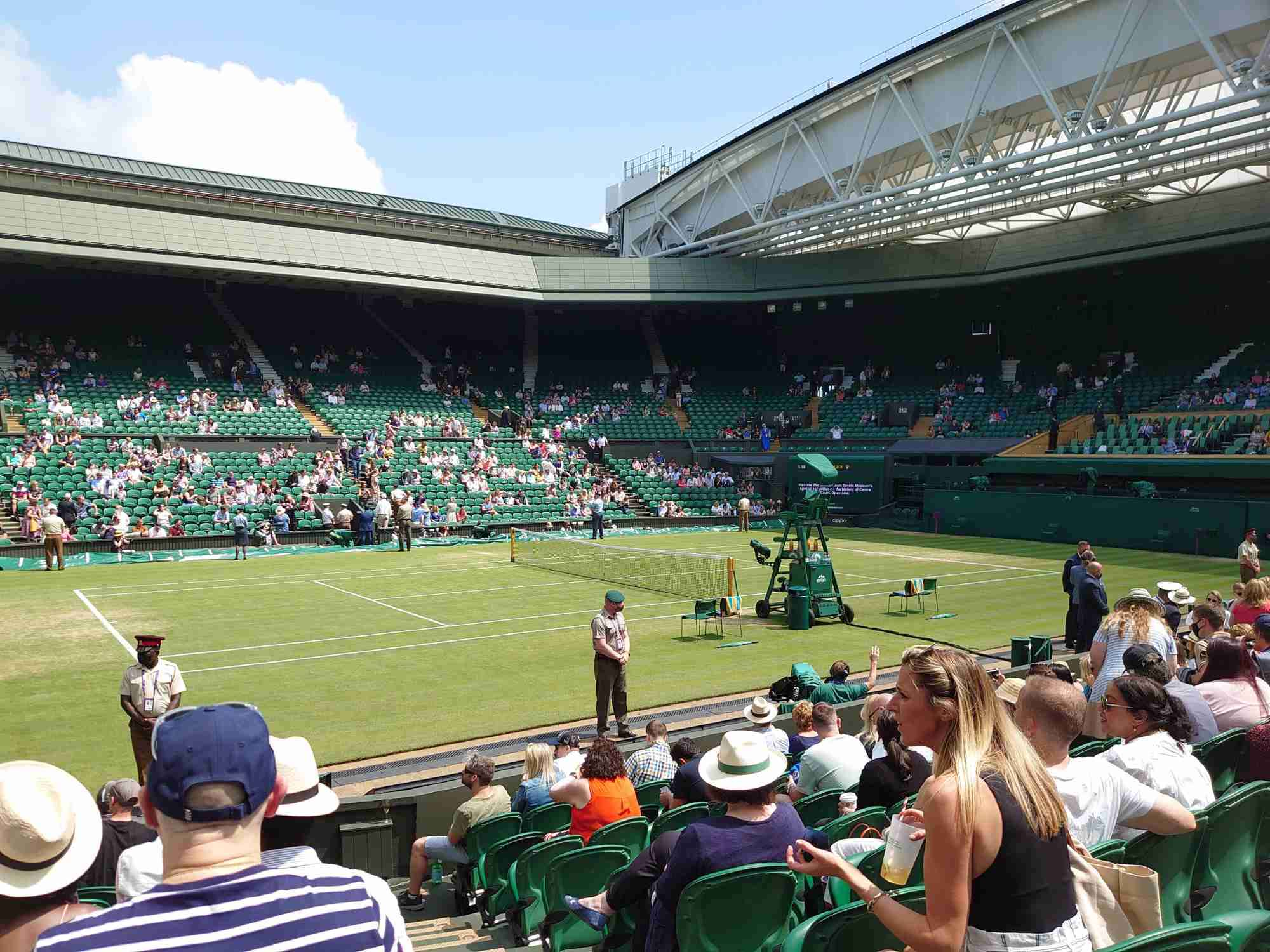 View from Seat Block 105 at Wimbledon - Centre Court