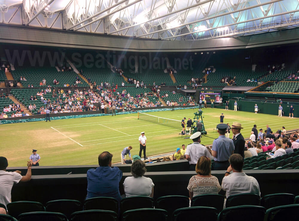 View from Seat Block 307 at Wimbledon - Centre Court