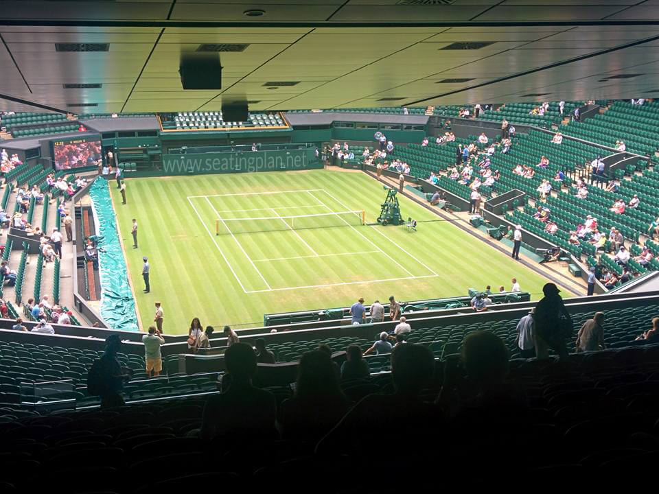 View from Seat Block 511 at Wimbledon - Centre Court