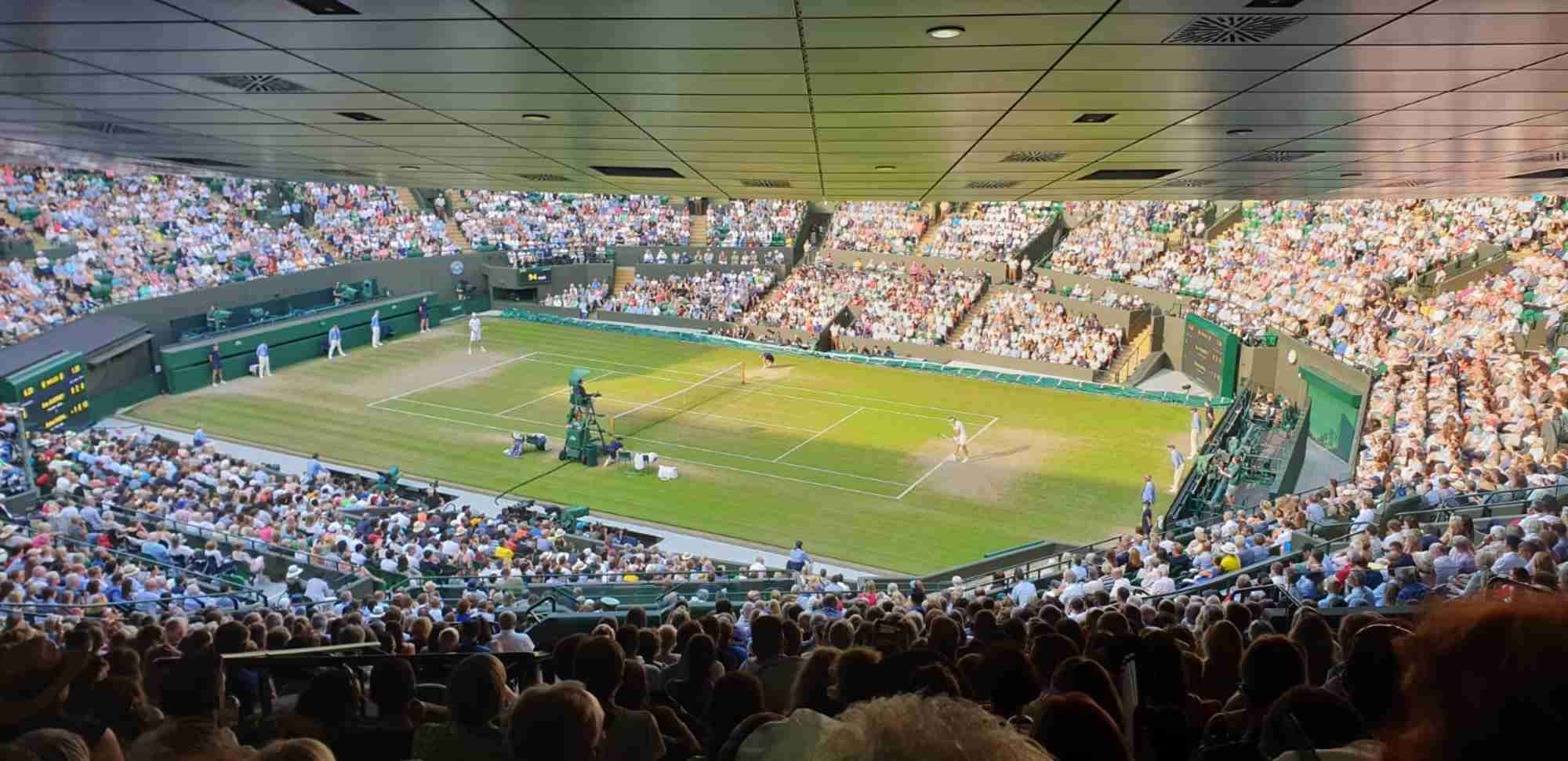 View from Seat Block 27 at Wimbledon - No.1 Court