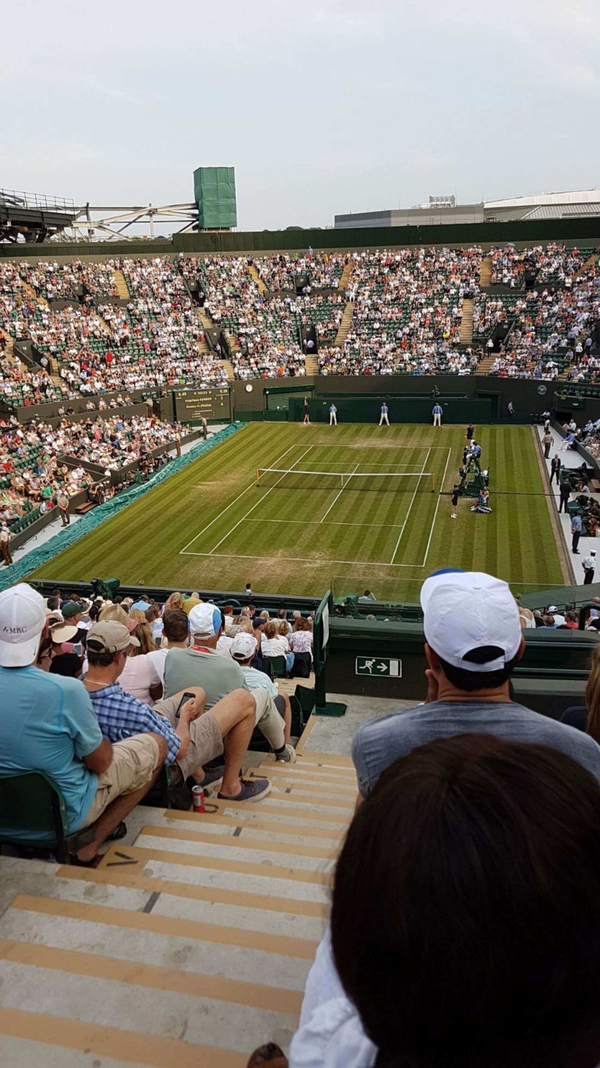 View from Seat Block 43 at Wimbledon - No.1 Court